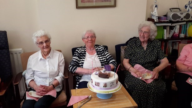 80th Birthday Celebrations for Esther Burns at Strand Court, Belfast