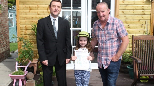 Jorja wins Choice Colouring Competition