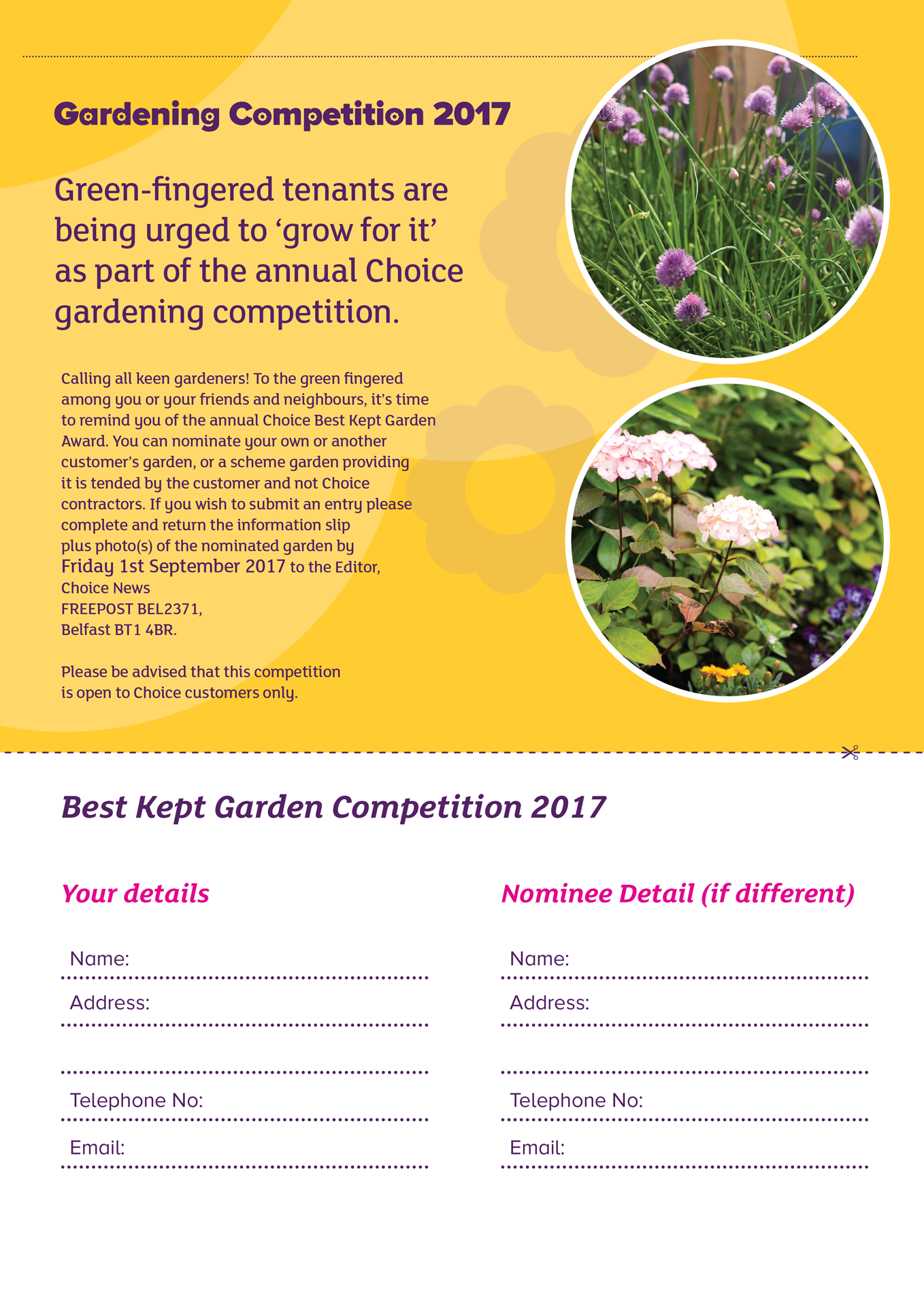 Choice Gardening Competition 2017