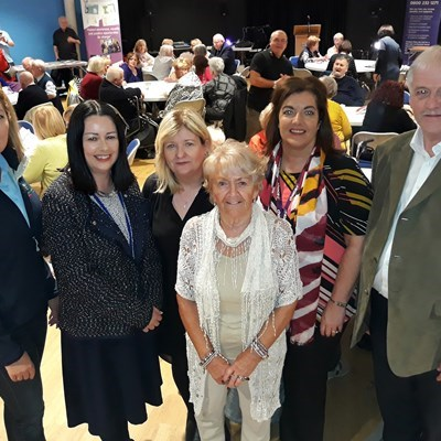 Tenants gather to celebrate  International Older People's Day